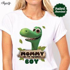 DIY afdrukbare goede dinosaurus opstrijkbare-overdracht, Mama van de verjaardag jongen, goede dinosaurus partij, goede dinosaurus verjaardag, goede dinosaurus T-shirt