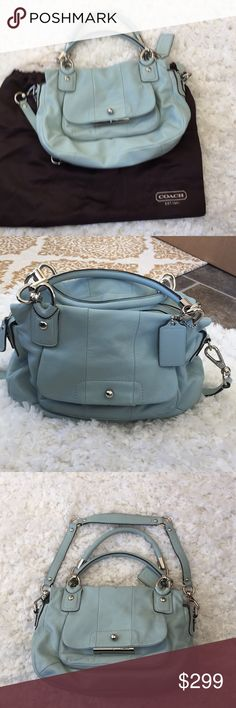 Small Coach Satchel Soft Leather EUC.  Used for about a week.  I take very good care of my purses they do not get set on the floor. (Except for these pics). Smoke Free Animal Free home. FIRM on price Coach Bags Satchels