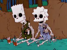 Esqueletos de Bart y Lisa