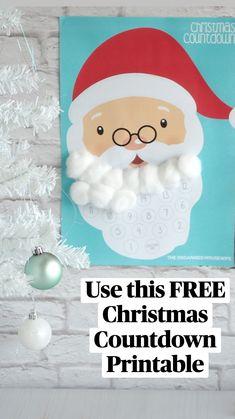 Primitive Christmas Crafts, Vintage Christmas Crafts, Diy Christmas Garland, Christmas Crafts For Kids To Make, Christmas Card Crafts, Christmas Countdown, Holiday Crafts, Kids Crafts, Holiday Ideas