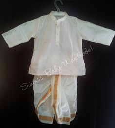 Pure pattu dhoti for your little prince ;) To order please visit https://www.facebook.com/swinisbabywardrobe