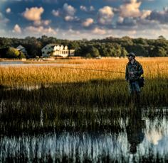 Environmental portrait of a fly fisher.  Love that 70-200mm on a skinny f stop (F2.8).  Nice sharp glass. Todd Wall  Billy