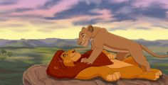 Mufasa and Sarabi. I used a few different screencaps for reference. Good morning, my king Kiara Lion King, Lion King 3, The Lion King 1994, Lion King Fan Art, Simba And Nala, Lion King Movie, Disney Lion King, Lion Art, Lion King Series