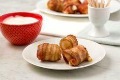 Bacon-Wrapped Mozzarella Sticks - Delish.com