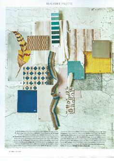 Homes & Gardens July 2015 issue. Featuring Ludvig in Blue/Pink by Carolina Irving on the H&G Edit palette page.