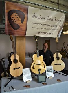 My husband Steve attending his first guitar show at Rheged, Penrith. Penrith, Enamel Jewelry, Pet Portraits, Guitar, Husband, Watercolor, Pets, Music, Silver