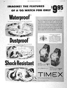 vintage ad, Timex.