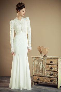 Love this victorian theme modest-wedding-dress