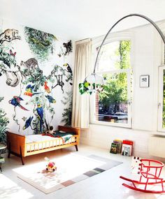 Tropical is one of the favourite décor trends for 2017. It is inspired by natural beauty, bringing nature indoors.Here're some ideas for your kid's room.