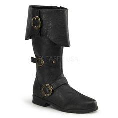 Caribbean Pirate Boots - Black $79.95 AT vintagedancer.com