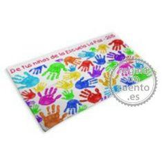 Manta personalizada como regalo para profesores de parte de todos sus niños.