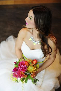 laceandliliesflowers.com - Neon Wedding Inspiration Photo By Kj & Rob Photographers