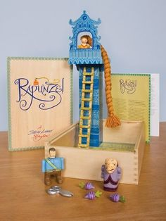 A Steve Light Storybox, Rapunzel by Guidecraft. I'm sure you can make your own story boxes with your kids! Decorate a shoe box and do some crafts to look like the characters in the story books. (: This is for sure on our to-do list.