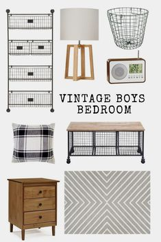 Vintage Industrial Farmhouse decor for a boy's bedroom. This style works from big boy room to teenage boy room! Vintage Industrial Farmhouse decor for a boy's bedroom. This style works from big boy room to teenage boy room! Vintage Boys Bedrooms, Big Boy Bedrooms, Boys Bedroom Decor, Bedroom Vintage, Bedroom Ideas, Modern Bedroom, Bedroom Designs, Boys Bedroom Furniture, Teenage Boy Rooms