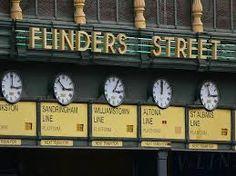 Melbourne's Flinders Street Station. Mee me under the clocks at Flinders!