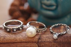 Boho Stackable Ring, Bohemian Ring, Cocktail Ring, Free People Handmade,Pearl Ring,Pearl Jewelry