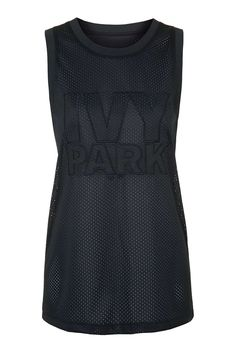 All-Over Mesh Longline Tank by Ivy Park - Ivy Park - Clothing - Topshop Singapore