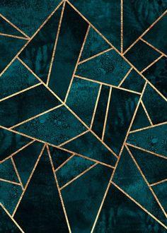 Deep Teal Stone Alu Dibond Print Order now at: moeb .ladendirek… Deep Teal Stone Alu Dibond Print Order now at: moebel. Motif Art Deco, Art Deco Tiles, Art Deco Print, Art Deco Pattern, Art Patterns, Poster Online, Deep Teal, Blue Aesthetic, Geometric Art