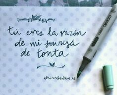 ♒ Love Quotes, Inspirational Quotes, Addicted To You, Just Smile, Spanish Quotes, Smash Book, Love Words, Letters, Journal