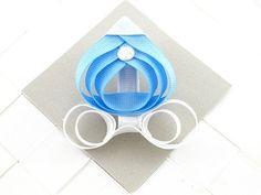 sculpted hairbows | Blue Princess Carriage Sculpted Ribbon Hair Bows / Hair Clips $5.00 ...