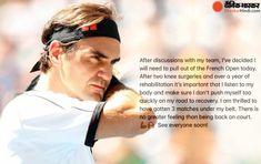 20 बार के ग्रैंड स्लैम चैंपियन रोजर फेडरर ने टूर्नामेंट से नाम वापस ले लिया है। उन्होंने सोशल मीडिया पर पोस्ट कर खुद इसकी जानकारी दी। फेडरर ने ट्वीट करते हुए लिखा, अपनी टीम से बातचीत करने के बाद ही मैंने हटने का फैसला लिया। #FrenchOpen #FrenchOpen2021 #TennisStarRogerFederer #FrenchOpenprequarterfinals #RogerFedererofficialstatement @bhaskarhindi Tennis News, Knee Surgery, French Open, Tennis Stars, Cricket News, International News, Lifestyle News, Roger Federer, Bollywood News