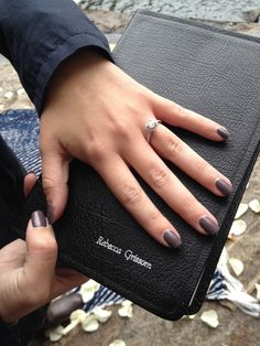 Proposed by getting her a Bible with his last name on it. Sweetest thing ever!