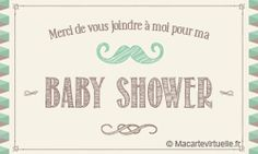 Faire-part Baby Shower moustache