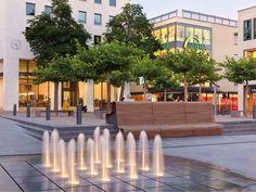Fountain on the University Square, Fulda.