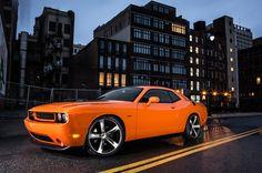 2014 Dodge Challenger R/T Shaker Street Night Wallpaper