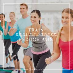 Can you use strength training to reduce stress levels and relieve back pain? We know you can, here is how.  #HolmesPlace #EnjoyTheJourney #Training #Fitness #Workout