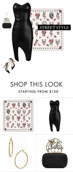 """""""Street Style"""" by mrs-snow ❤ liked on Polyvore featuring Alexander McQueen, Posh Girl, Christian Louboutin, Bony Levy, DateNight, chic, Leather and AlexanderMcQueen"""