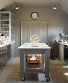 Laundry rooms and mudrooms - mylusciouslife.com - martha stewart bedford grey laundry kitchen