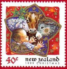 Theo's Philately Christmas: The Christmas Story - New Zealand 1999