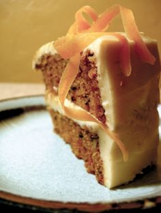 Carrot Cake Recipe w/cream cheese frosting - got this recipe when I was going to Bastyr, love that the sweetener is all honey. Very mild sweet, this is my favorite carrot cake -r