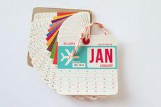 2014 Luggage Tag Wall Calendar