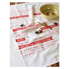 Cotton Tea Towel, Conversions