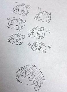Anime Drawings Sketches, Anime Sketch, Chibi, Fan Anime, Demon Hunter, Body Drawing, Anime Couples Manga, Slayer Anime, Art Reference Poses