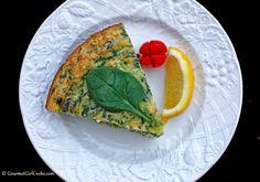 Gourmet Girl Cooks: Greek Style Spinach Feta Pie (Modified Crustless Version #2)