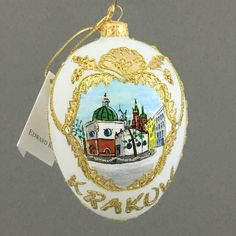 Pamiątka z Krakowa-KOŚCIÓŁ ŚW. WOJCIECHA-jajko, ozdoba choinkowa-Edward Bar