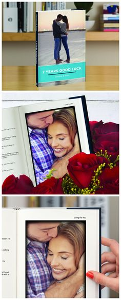 What a sweet, romantic gift!!!!  Tell your story using emails, facebook chats or WhatsApp messages and photos.