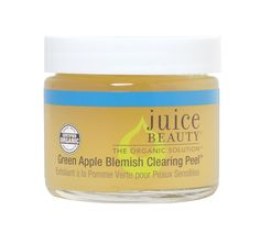 Juice Beauty Green Apple Blemish Clearing Peel This Patented, award winning peel is designed to supercharge the blemish clearing process by exfoliating to even skin tone & texture. Rejuvenating aloe,
