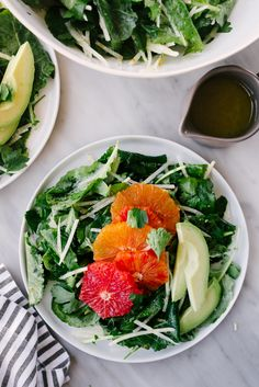 This citrus kale salad with avocado and jicama is a healthy and nutritious recipe that's also fast and incredibly easy. It's a sweet, tart, and crunchy vegan winter salad! #citrus #wintersalad #vegan #vegetarian #whole30