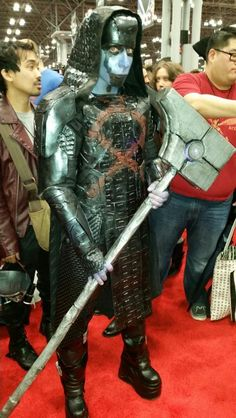 She killed this Ronan the Accuser cosplay during New York Comic Con 2014.