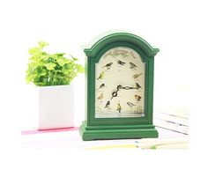 $14.80 European Country Style Hummingbird Singing Desk Clock with Sounds