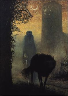 Zdzisław Beksiński; (1929-2005) was a renowned Polish painter, photographer, and sculptor. Beksiński executed his paintings and drawings either in what he called a 'Baroque' or a 'Gothic' manner. Beksiński was murdered in 2005.