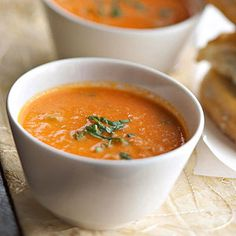 Tomato-Basil Soup From Better Homes and Gardens, ideas and improvement projects for your home and garden plus recipes and entertaining ideas.