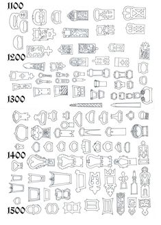 Medieval belt buckle guide!