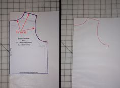 It is really simple to draw an a-line top (or dress) from a basic bodice pattern. You can download my free basic bodice pattern (sizes 18 m...