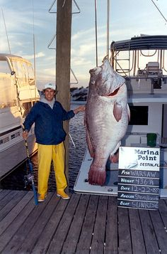 The big fish my brother caught. Still a world record holder.