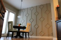 From Drab to Fab! Tone on tone, dimensional diamond wall treatment... DIY How-To Guide from our friends at @ Make Them Wonder Blog. Check it out:  http://makethemwonderblog.blogspot.com/2012/01/diy-diamond-wall-treatment-how-to-guide.html